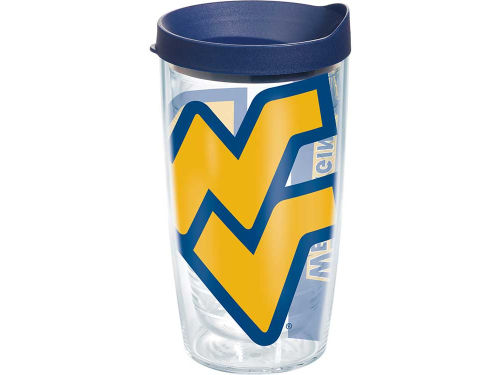 West Virginia Mountaineers Tervis Tumbler 16oz. Colossal Wrap Tumbler with Lid