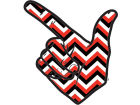 Texas Tech Red Raiders Chevron Decal Auto Accessories