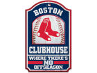 Boston Red Sox Wincraft 11x17 Wood Sign Flags & Banners