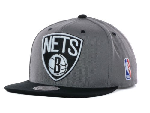 Brooklyn Nets Mitchell and Ness NBA Under Over Snapback Cap Hats