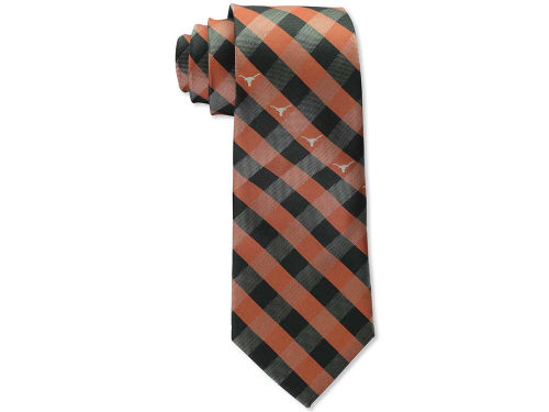 Texas Longhorns Eagles Wings Polyester Checked Tie