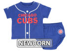 Chicago Cubs Majestic MLB Newborn Little Player Set Infant Apparel