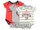 Washington Nationals Majestic MLB Newborn Triple Play 3 Piece Bodysuit Set Infant Apparel