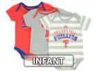 Philadelphia Phillies Majestic MLB Infant Triple Play 3 Piece Bodysuit Set Infant Apparel