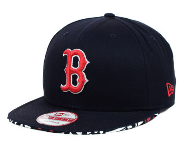 Boston Red Sox MLB Cross Colors 9FIFTY Snapback Cap Hats