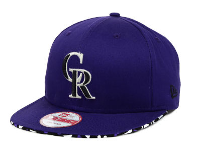 Colorado Rockies MLB Cross Colors 9FIFTY Snapback Cap Hats