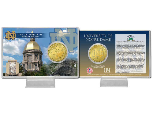 Notre Dame Fighting Irish Highland Mint Coin Card-Silver