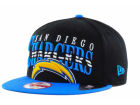 San Diego Chargers New Era NFL Black Arch 9FIFTY Snapback Cap Adjustable Hats
