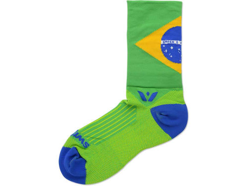 Brazil Elicit Brands Flag Swiftwick Socks