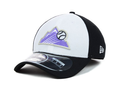 Colorado Rockies MLB Diamond Era White Front 39THIRTY Cap Hats