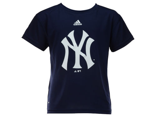 New York Yankees adidas MLB Youth Team Logo Climalite T-Shirt