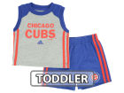 Chicago Cubs adidas MLB Toddler Base Hit Short Set Outfits
