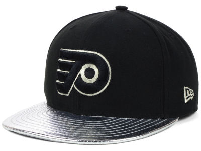 Philadelphia Flyers NHL Metallic Slither 59FIFTY Cap Hats