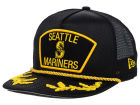 Seattle Mariners New Era MLB Gold Rope 9FIFTY Snapback Cap Adjustable Hats