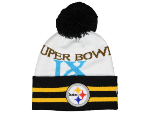 Pittsburgh Steelers New Era NFL Super Bowl Super Wide Point Knit Hats