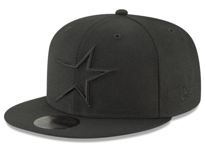 Houston Astros MLB Black on Black Fashion 59FIFTY Cap Hats