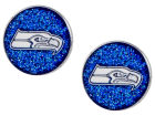 Seattle Seahawks Aminco Inc. Glitter Post Earrings Aminco Jewelry