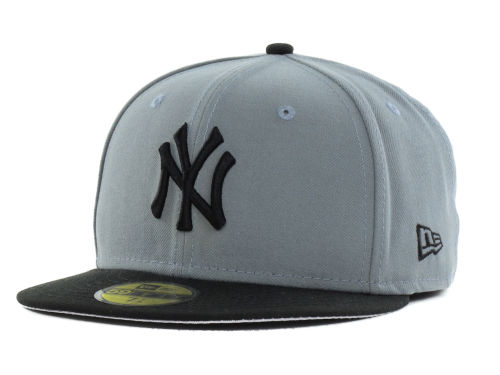 New York Yankees New Era MLB FC Gray Black 59FIFTY Cap Hats