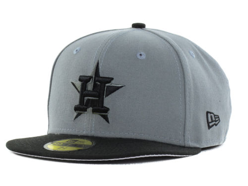 Houston Astros New Era MLB FC Gray Black 59FIFTY Cap Hats