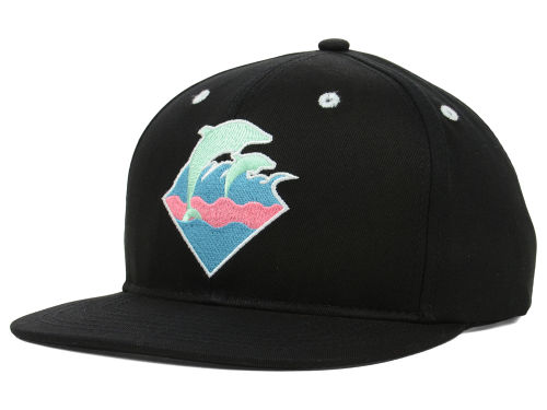Pink Dolphin Spring Waves Snapback Cap Hats
