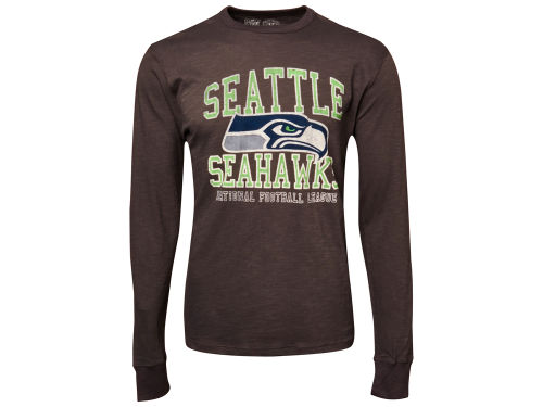 Seattle Seahawks '47 NFL Stacked Long Sleeve Scrum T-Shirt