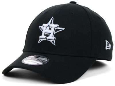 Houston Astros MLB Black White Classic 39THIRTY Cap Hats