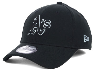 Oakland Athletics MLB Black White Classic 39THIRTY Cap Hats