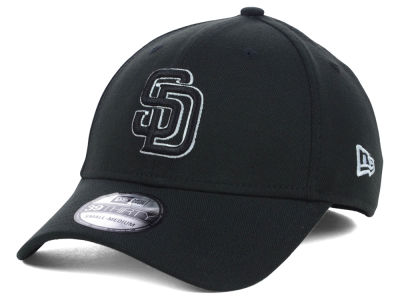 San Diego Padres MLB Black White Classic 39THIRTY Cap Hats