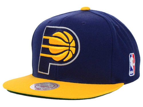 Indiana Pacers Mitchell and Ness NBA XL Logo Snapback Cap Hats