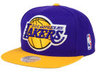 Los Angeles Lakers Mitchell and Ness NBA XL Logo Snapback Cap Hats