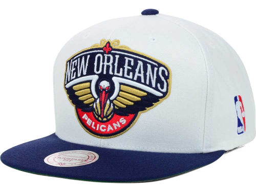 New Orleans Pelicans Mitchell and Ness NBA XL Logo Snapback Cap Hats