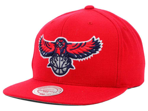 Atlanta Hawks Mitchell and Ness NBA Solid Snapback Cap Hats