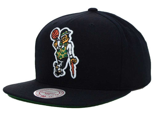 Boston Celtics Mitchell and Ness NBA Solid Snapback Cap Hats