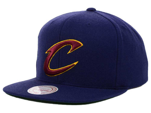 Cleveland Cavaliers Mitchell and Ness NBA Solid Snapback Cap Hats