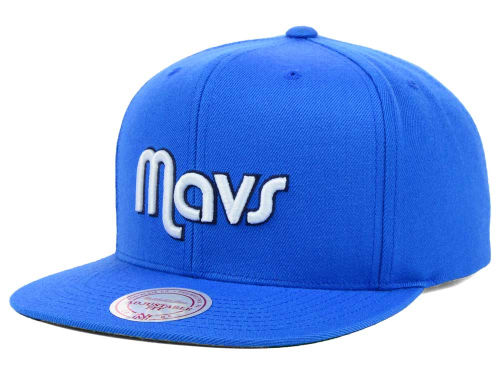 Dallas Mavericks Mitchell and Ness NBA Solid Snapback Cap Hats
