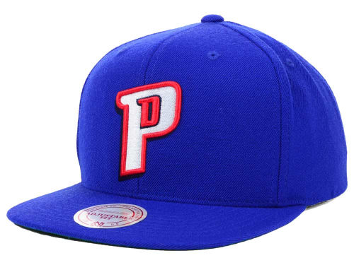 Detroit Pistons Mitchell and Ness NBA Solid Snapback Cap Hats