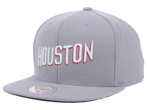 Houston Rockets Mitchell and Ness NBA Solid Snapback Cap Hats