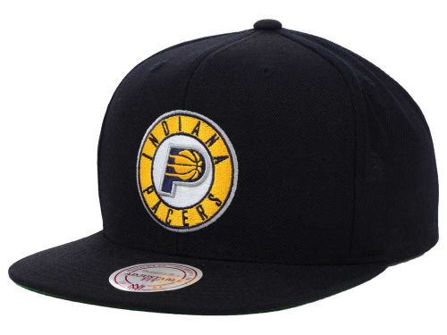 Indiana Pacers Mitchell and Ness NBA Solid Snapback Cap Hats