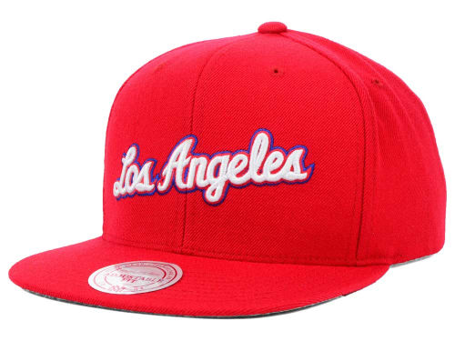 Los Angeles Clippers Mitchell and Ness NBA Solid Snapback Cap Hats