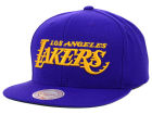 Los Angeles Lakers Mitchell and Ness NBA Solid Snapback Cap Hats
