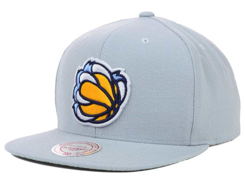 Memphis Grizzlies Mitchell and Ness NBA Solid Snapback Cap Hats