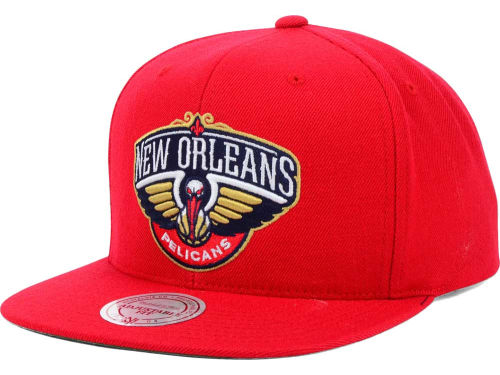 New Orleans Pelicans Mitchell and Ness NBA Solid Snapback Cap Hats