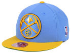 Denver Nuggets Mitchell and Ness NBA XL Logo 2-Tone Fitted Cap Hats