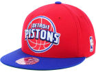 Detroit Pistons Mitchell and Ness NBA XL Logo 2-Tone Fitted Cap Hats