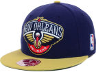 New Orleans Pelicans Mitchell and Ness NBA XL Logo 2-Tone Fitted Cap Hats