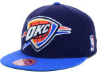 Oklahoma City Thunder Mitchell and Ness NBA XL Logo 2-Tone Fitted Cap Hats
