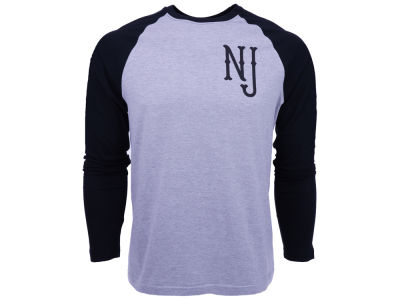 New Jersey Branded Basic State Long Sleeve Raglan T-Shirt