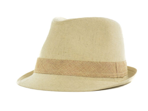 LIDS Private Label PL Khaki Linen Fedora With Burlap Band Hats