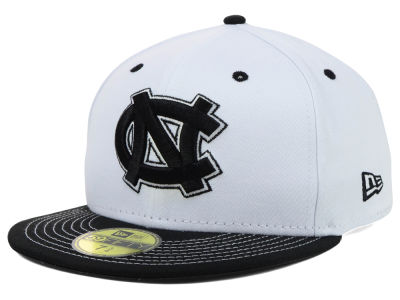 North Carolina Tar Heels NCAA White Black 59FIFTY Cap Hats