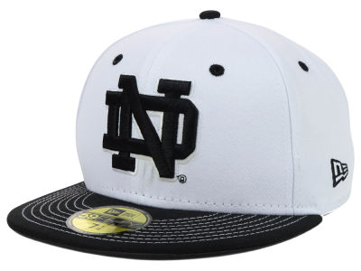 Notre Dame Fighting Irish NCAA White Black 59FIFTY Cap Hats